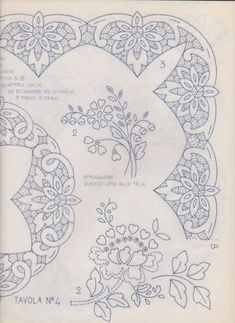 """ru / GWD - Альбом """"Richelieu scheme I"""" Cutwork Embroidery, Floral Embroidery Patterns, White Embroidery, Hand Embroidery Designs, Vintage Embroidery, Embroidery Stitches, Advanced Embroidery, Lace Painting, Pencil Design"""