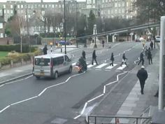 "THE BEATLES.....Live- from the webcam in London. Everyone wants to walk the same walk the Beatles did on their ""album cover- Abbey Road!"" London, England"