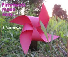 DIY Pinwheel : DIY A Pinwheel tutorial- the easiest ever