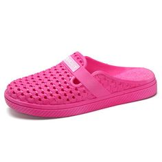 Big Size Comfortable Hollow Out Soft Slippers Open Heel Flat Sandals