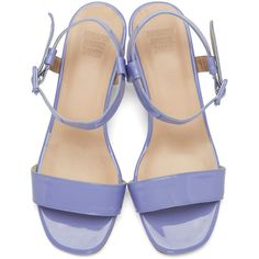 f3e50214c84d Maryam Nassir Zadeh Purple Patent Leather Sophie Sandals (23.095 RUB) ❤  liked on Polyvore