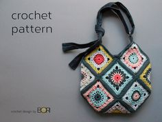 Transcendent Crochet a Solid Granny Square Ideas. Inconceivable Crochet a Solid Granny Square Ideas. Granny Square Bag, Granny Square Crochet Pattern, Crochet Granny, Granny Squares, Granny Granny, Crochet Blocks, Square Blanket, Crochet Diagram, Blanket Crochet
