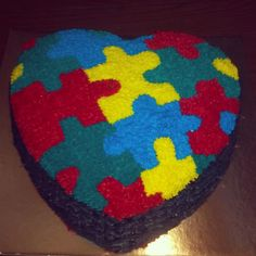 Cake Decorated By Girl With Autism : Autism cupcake cakes on Pinterest Autism Awareness ...