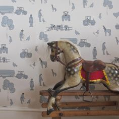 Kids Wallpaper, Animal Wallpaper, Farm Yard, Farm Life, Cow, Doodles, Blue, Animals, Carpet