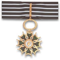 By the French government, Rodrigo was awarded Commander of the Order of Arts and Letters. French Government, Nureyev, Pendant Necklace, Artwork, Gold, Arts, Badges, Empire, Decorations