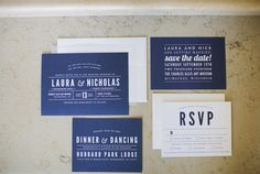 modern navy wedding invitations - Wisconsin Wedding Featured On Midwest Bride Photos By Lisa Mathewson Photography