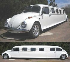 stretch beetle - so much fun for a wedding or grad! #vw #cars