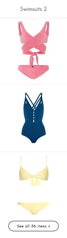 """Swimsuits 2"" by rileyriver24601 ❤ liked on Polyvore featuring swimwear, bikinis, bathing suits, bikini, swimsuits, pink, wrap swimsuit, swimsuit swimwear, bathing suits two piece and beach bikini"