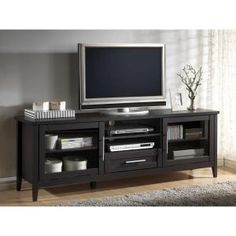 Baxton Studio Espresso TV Stand in Dark Brown 28862-5371-HD at The Home Depot - Mobile