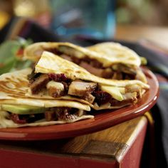 Duckadillas -- great as a main course or cut up for appetizers.  http://www.mapleleaffarms.com/27?recipe=241=2