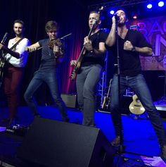 Backroad Anthem's Josh Bryant, Eric Dysart, Brandon Robold and Craig Strickland