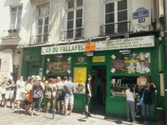 Check out the hip Marais neighborhood and spend the best €5 of your life on the city's most well-known falafel joint.