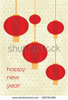Chinese Lantern Template   chinese lantern chinese lunar new year poster template vector ...