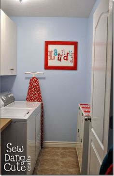 I love the idea of a cute laundry room!