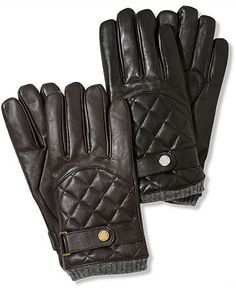 Ralph Lauren Gloves, Leather Quilted Racing Gloves
