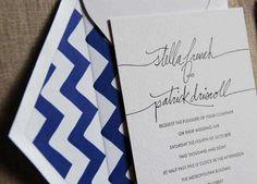 beautiful letterpress & chevron patterned envelope liners