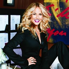 Rachel Zoe. here   healthry  since having her son  she is scarey skinny,, i'm worried about her
