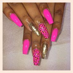 Leopard Nails, Stiletto Nails, Pedi, Hair And Nails, Nail Designs, Makeup, Beauty, Make Up, Nail Desings