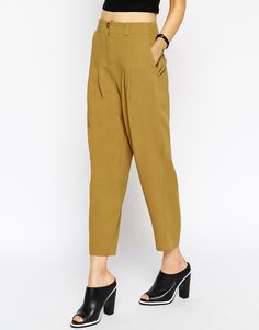 Image 4 - ASOS Deep Pleat Tapered Trouser