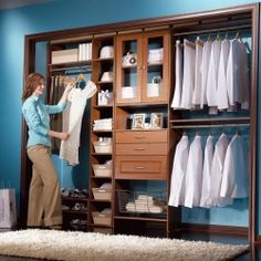 Ready-made storage components make organizing your closet simple and inexpensive.