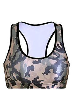 c4573a95 Cheap Pink Queen Womens Camo Printed Sports Bra Running Aerobics Yoga  Vest(S) https