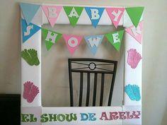 Marco fotografico para fiesta de baby shower