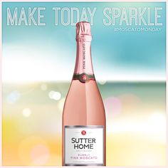 Make this #MoscatoMonday sparkle with a glass of Sutter Home Bubbly Pink Moscato.