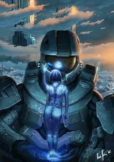Master Chief and Cortana Halo Halo Master Chief, Master Chief And Cortana, New Halo, Halo 2, Anime Expo, Batman Beyond, Daft Punk, Wolverine Comic, Green Man