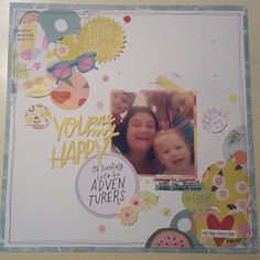 You are my happy! ... used my circle punches along with Dear Lizzy Happy place collection