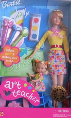 Barbie and Kelly Art Teacher Dolls and Playset Barbie Kids, Barbie 2000, Mattel Barbie, Barbie Shop, Barbie Kelly, Barbie And Ken, Barbie Movies, Poppy Parker, Barbie Accessories