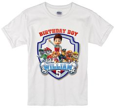 Paw Patrol Birthday Long Sleeve and Short Sleeve by TeezGallery