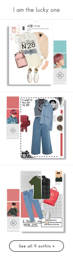 """""""I am the lucky one"""" by nguyen-huynh-khanh-thy ❤ liked on Polyvore featuring EXO, Converse, Monki, Moschino Cheap & Chic, Current/Elliott, Valentino, exact, xiumin, luckyone and kimminseok"""