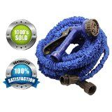 Expandable Garden Hose & Spray Nozzle Combo- 50 Foot - Best Water Hose - Blue, Collapsible, Lightweight, & Rubber- FREE Spray Nozzle! Great for gardening, recreational vehicles, pools, workshops, boats, washing cars, & the house- 1 YEAR Guarantee!  Get this product today at www.pocatello-icloud-commissions.com