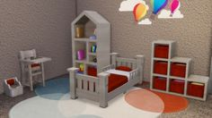 Toddlers Bedroom by LaLunaRossa at About Sims • Sims 4 Updates