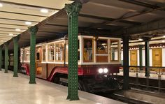 Hungary, Budapest, year old subway car on the Millennium Underground Railway. Budapest Travel, City Vibe, Ancient Buildings, Commercial Vehicle, Budapest Hungary, Trip Planning, Trains, Tube, Beautiful Places