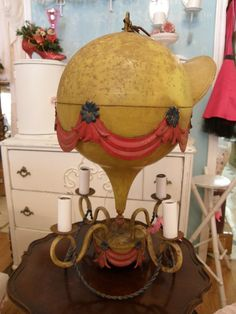 Hot Air Balloon Vintage Lamp