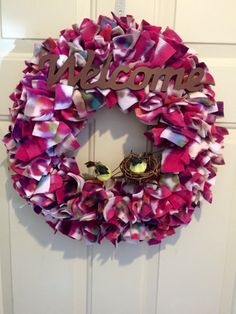 Welcome to our home-wreath birds nestbrown by MOSTaDOORableWREATHS