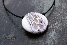 polymer clay pendant by Ivana Brozova