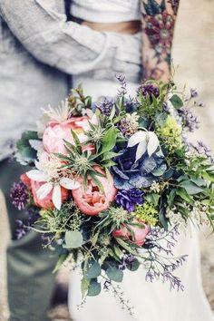Marijuana bouquet as seen on @offbeatbride #cannabis #bouquet #pot
