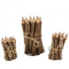 Natural Twig Colored Pencils from Bella Luna Toys. $6.95