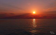 Beautiful view of Seaside Sunset!!