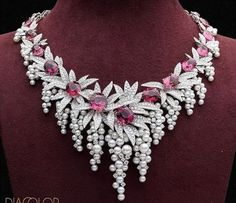 Diamond Necklace Steal every thunder and stun every onlooker. Celebrate your peerless statement with the DIACOLOR MOST WANTED. Delightful pink tourmaline, diamonds and pearls crafted in gleaming white gold High Jewelry, Luxury Jewelry, Modern Jewelry, Jewelry Stores, Male Jewelry, Jewellery Sale, Royal Jewelry, Unique Jewelry, Silver Jewellery