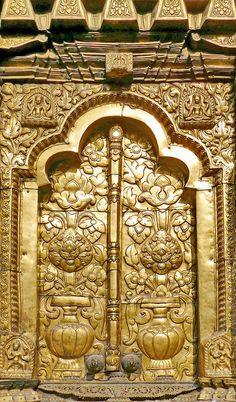 Golden doors of the Changu Narayan Temple in Bhaktapur, Nepal. Door to the world.
