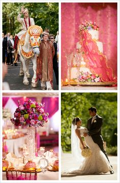 Gorgeous details in this bright and bold Indian American wedding keeps the ceremony and reception fresh and exciting.