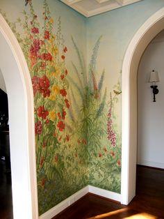Foyer English Garden Mural Corner