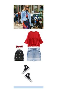 """""""#231"""" by simplyminimalist ❤ liked on Polyvore featuring MANGO, Dolce&Gabbana, Fendi and Converse"""