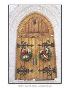 Church doors - Proctor, Vermont