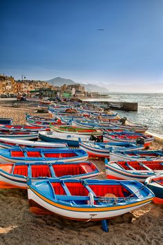 Aspra is a beautiful seaside village east of Palermo, about 3 Km mi) from the nearest town, Bagheria, Sicily. Oh The Places You'll Go, Places To Travel, Magic Places, Seaside Village, Belle Villa, Sicily Italy, Toscana, Montenegro, Historical Sites