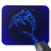 Tribal Dolphin Mouse Pad
