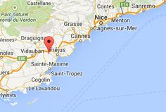 Location of Golfclub in South of France
